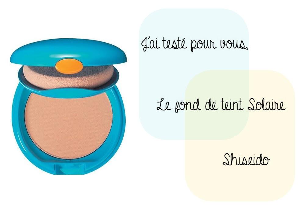 fond de teint compact solaire shiseido test