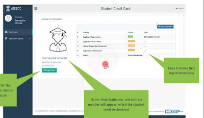 West Bengal Student Credit Card apply