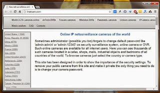 اخطر موقع للغاية للتجسس على كاميرات المراقبة في جميع أنحاء العالم