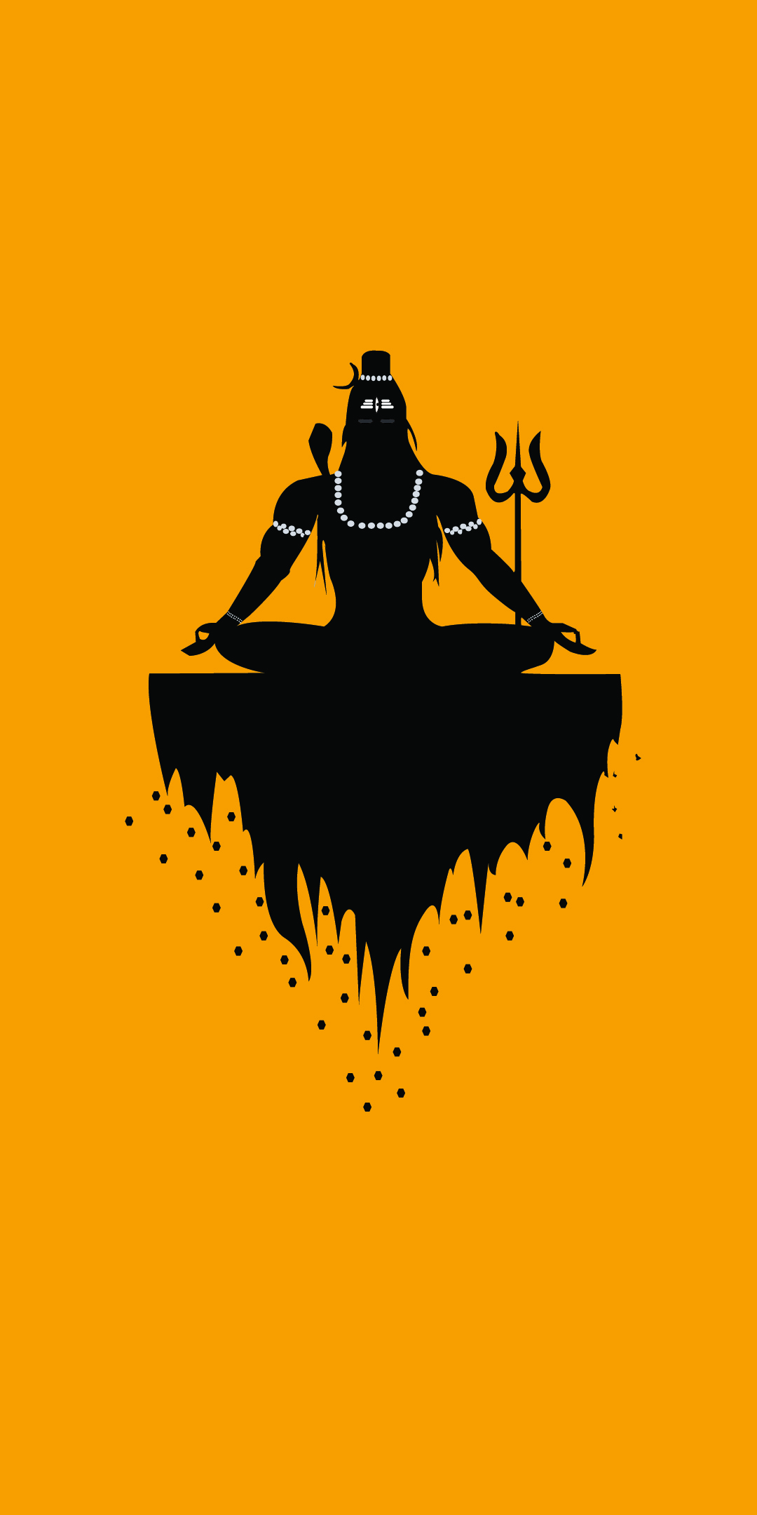 Lord shiva minimal mobile wallpaper
