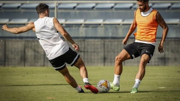 Málaga, tres altas en el entrenamiento de este miércoles