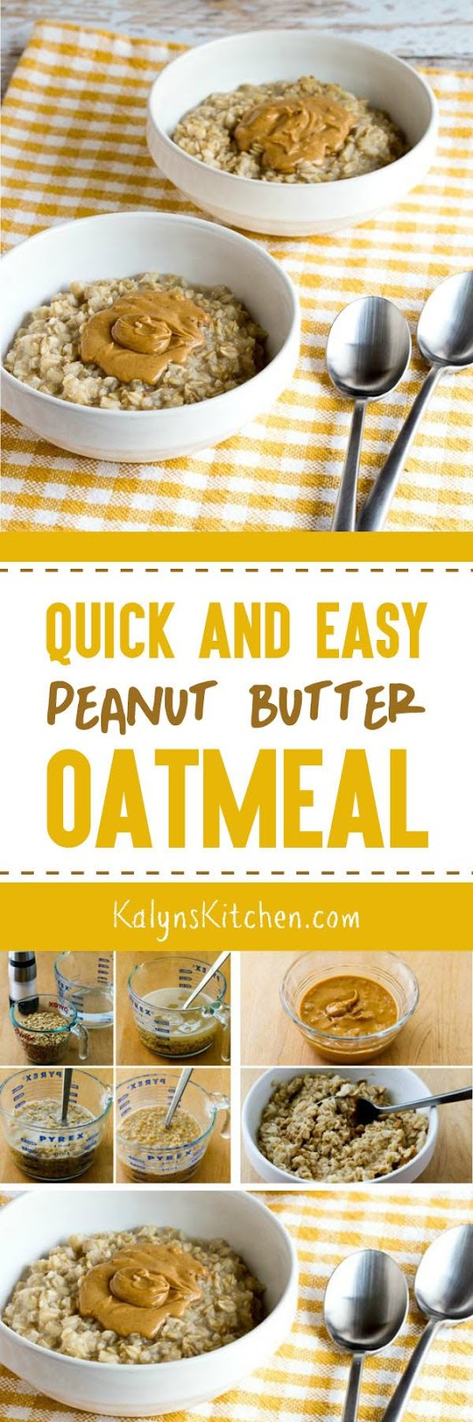 Quick and EASY Peanut Butter Oatmeal - Kalyn's Kitchen