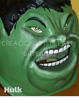 careta infantil de hulk creaciones istillarty