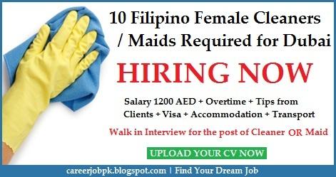Filipino Cleaners/Maids jobs in Dubai