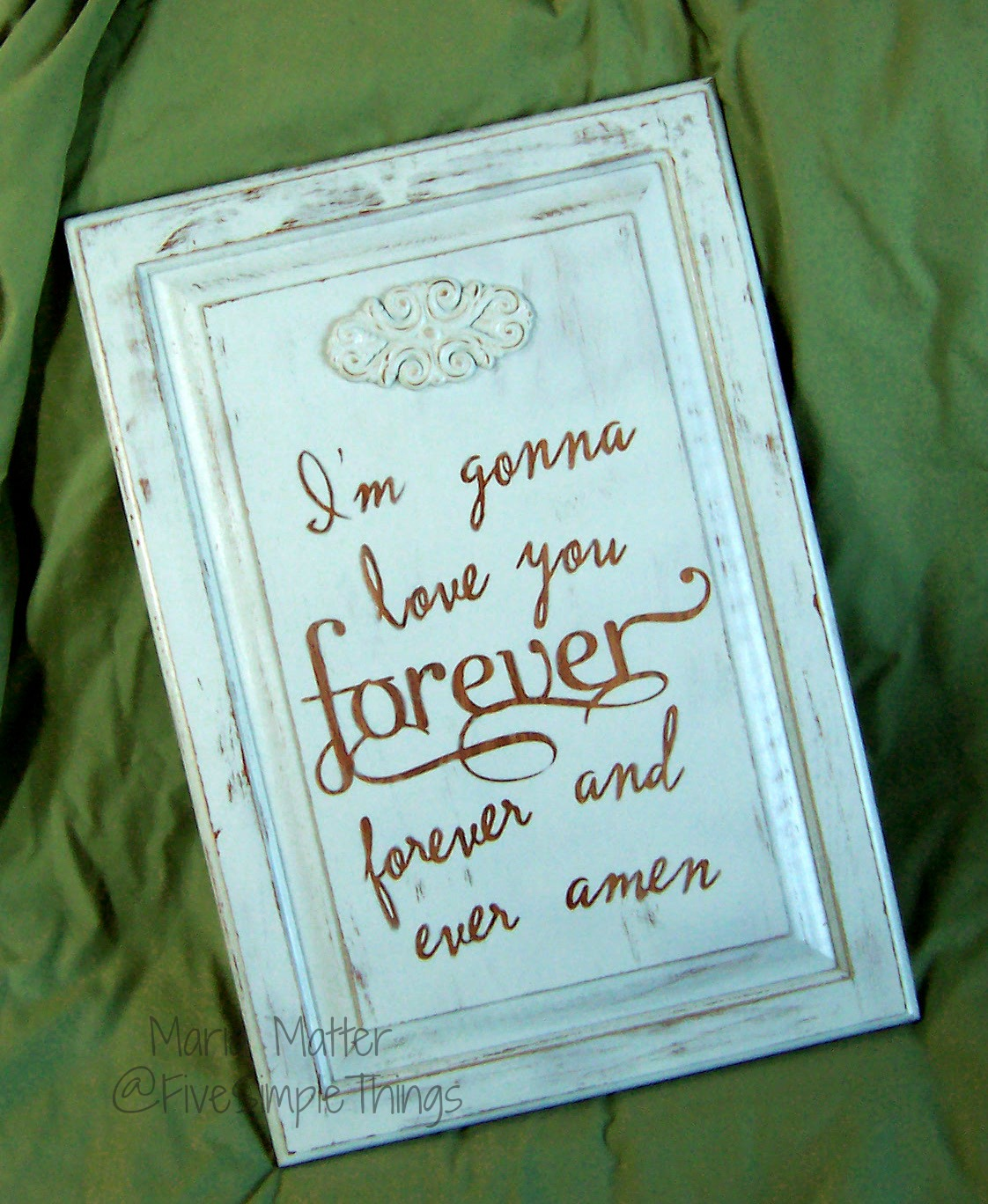 Five Simple Things: Love you Forever Wall Art - Recycle