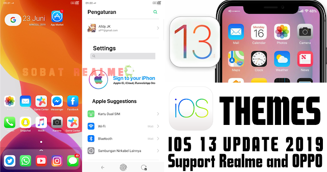 Download Themes Apple iOS 13 Premium for Realme & OPPO - Sobat Realme