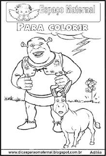 Desenho de Shrek para colorir