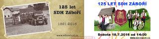 125 let založení SDH Záboří