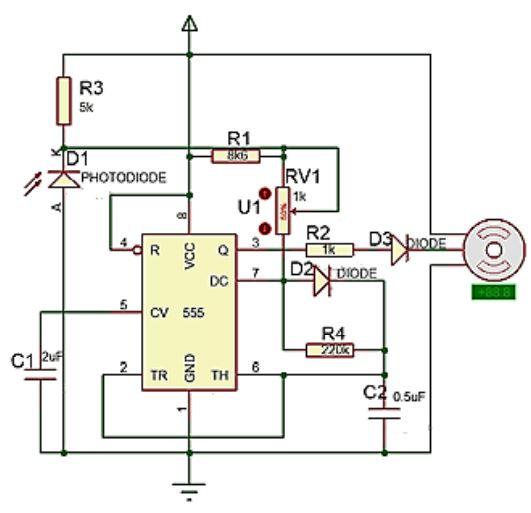 Implementasi Sensor Photodioda dengan Motor Servo
