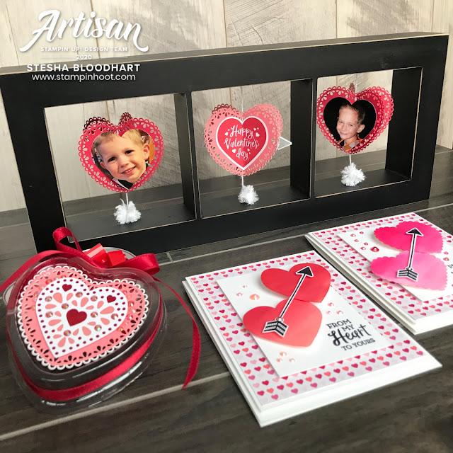 cadre avec La collection Du fond du coeur Stampin' Up! mini catalogue 2020