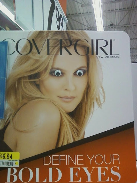 Funny Cover Girl Define Bold Eyes Joke Picture