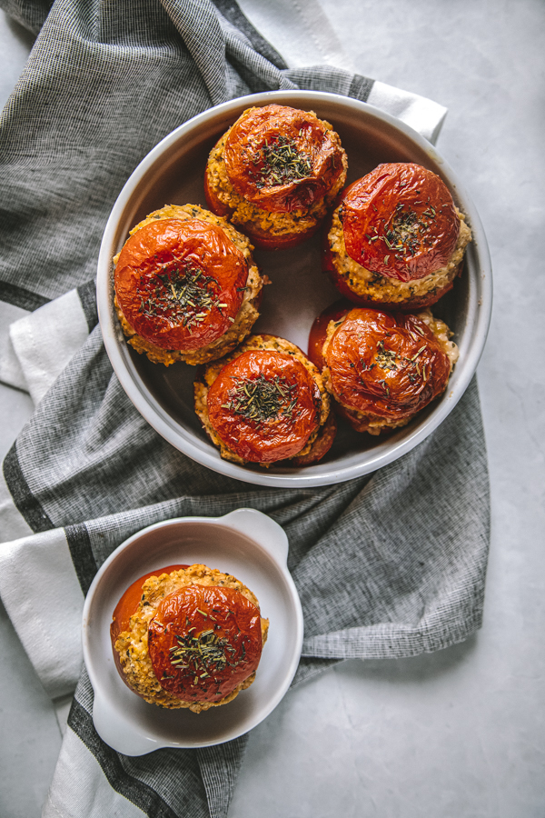Inspiration recette vegan tomates farcies