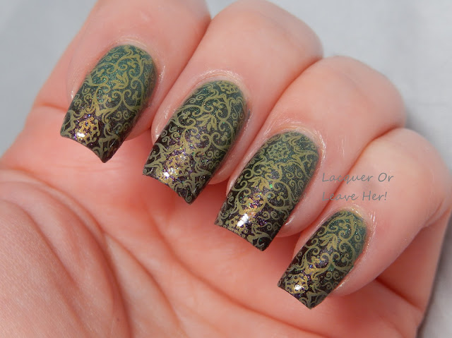 Victorian Christmas with It Girl Nail Art IG 106 + The Lady Varnishes polishes