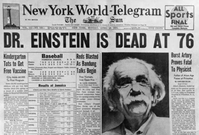 Einstein dies