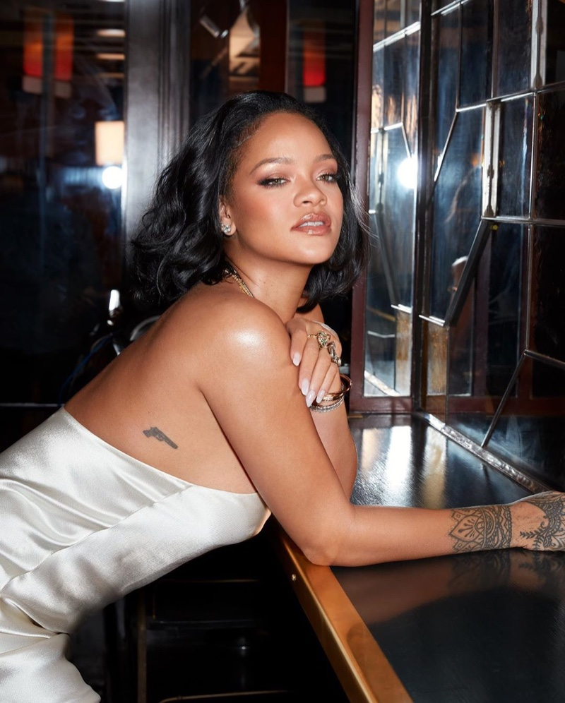 Rihanna fronts Fenty Beauty Cheeks Out Freestyle Cream Blush campaign.