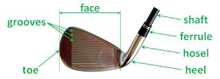 chi tiết đầu gậy golf