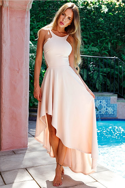 NEED IT NOW MAXI DRESS NUDE