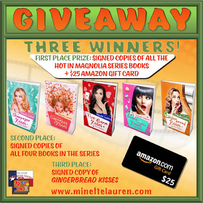 Gingerbread Kisses tour giveaway graphic. Prizes to be awarded precede this image in the post text.