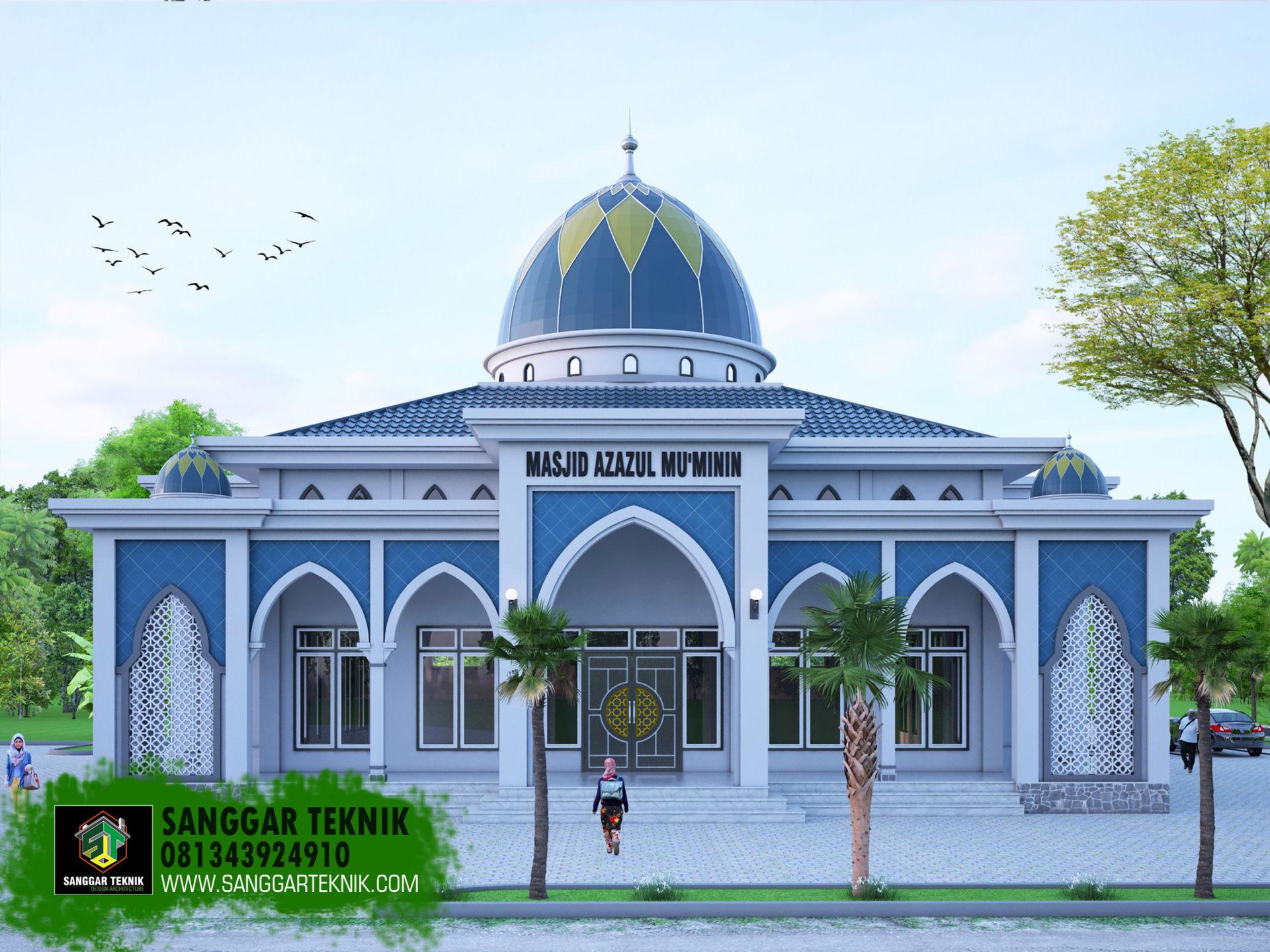 Desain Masjid Minimalis Modern 20x20 1 Lantai Sanggar Teknik Masjid minimalis modern