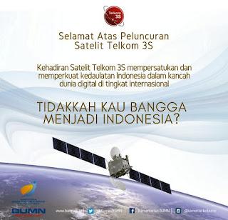 Bangga, Peluncuran Satelit Telkom 3S Perkuat Posisi dan Kedaulatan Indonesia dalam Kancah Dunia Digital di Tingkat Internasional