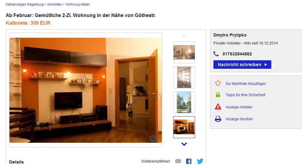 Ebay Kleinanzeigen Magdeburg Wohnung