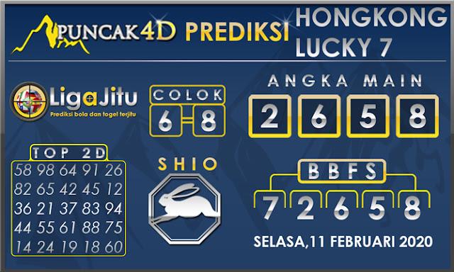 PREDIKSI TOGEL HONGKONG LUCKY7 PUNCAK4D 11 FEBRUARI 2020