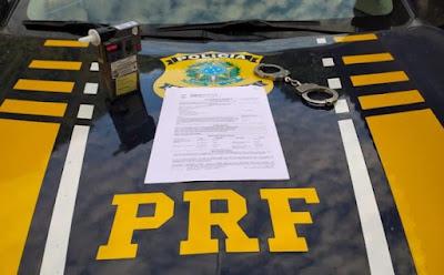 Em Santana do Ipanema, PRF/AL  prende motorista alcoolizado que furou bloqueio na BR - 316