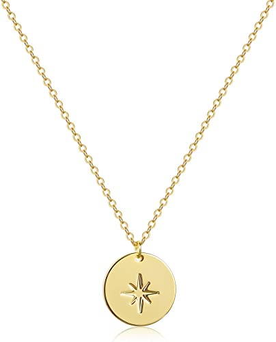 50%  Off  weather coin pendent necklace sun moon star