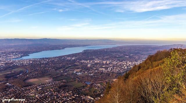 alpes, alps, france, suisse, genève, salève, haute-savoie, rhone-alpes, chaîne du mont-blanc, sunset, lac léman, lake, panorama