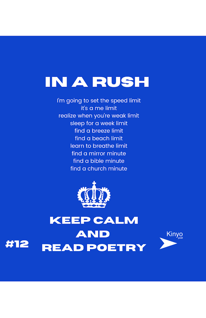 in a rush, a poem about time