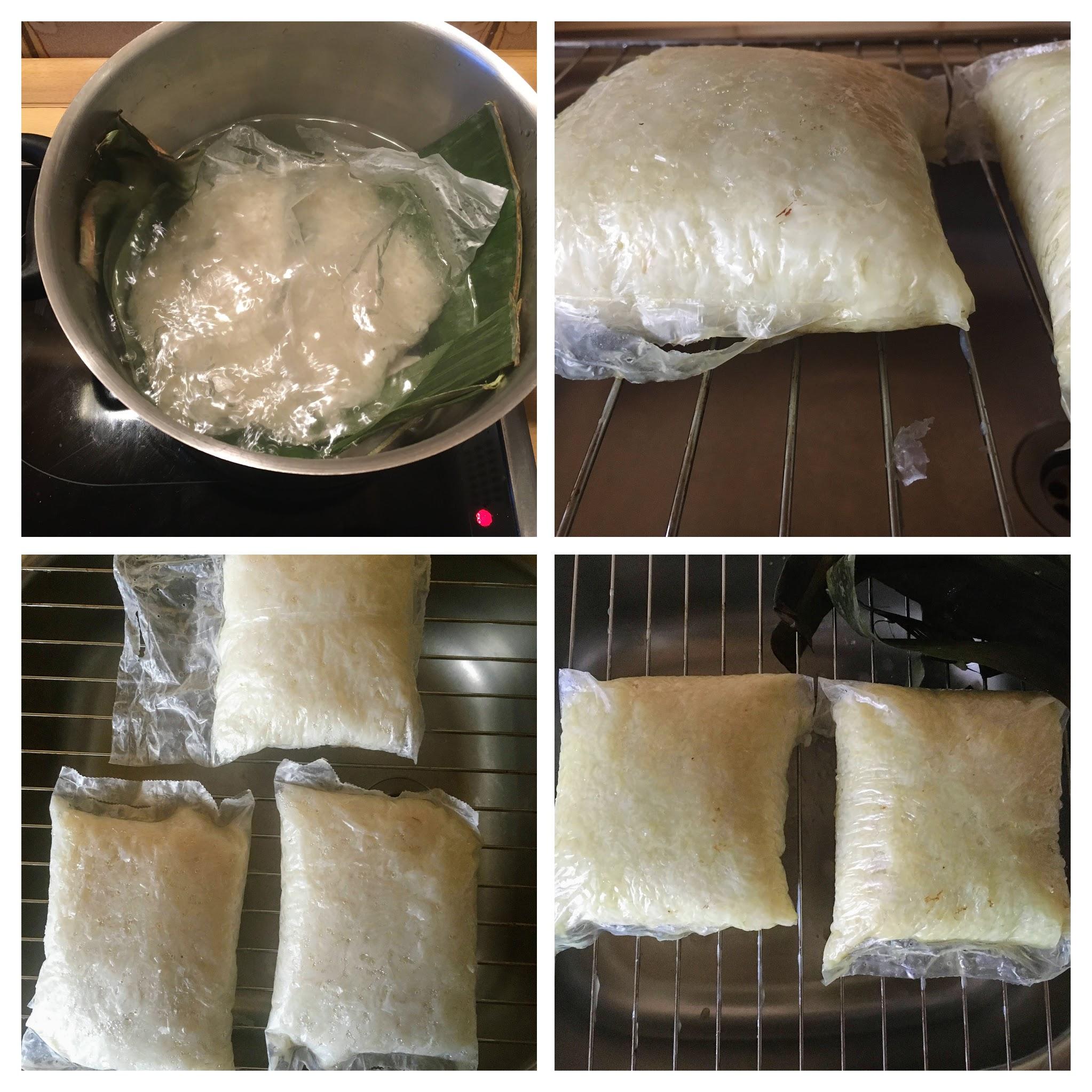 Reiskuchen aus Reisbeutel