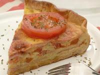 Receta : Tarta de jamón y queso al microondas