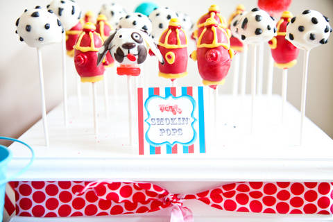 Fire Hydrant Cake Pops