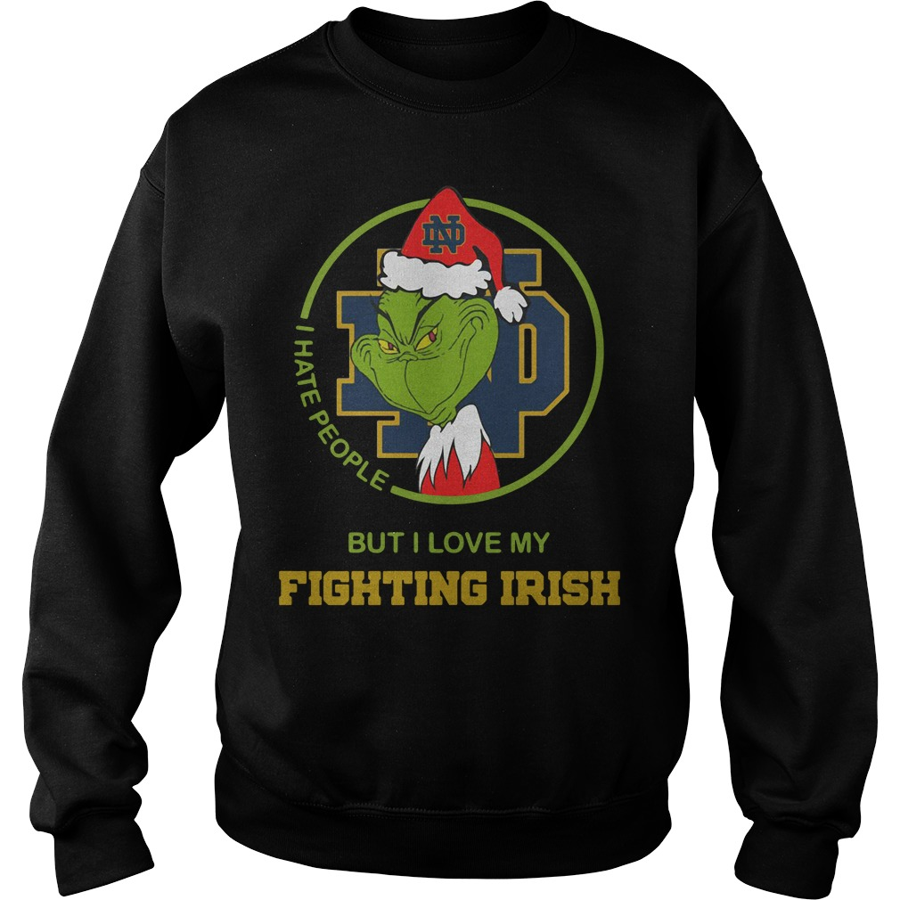 Santa Grinch Notre Dame I hate people Christmas sweater - King4Tees ...
