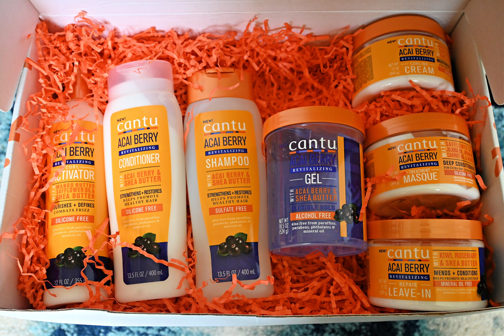 Cantu Beauty's Acai Berry Haircare Collection