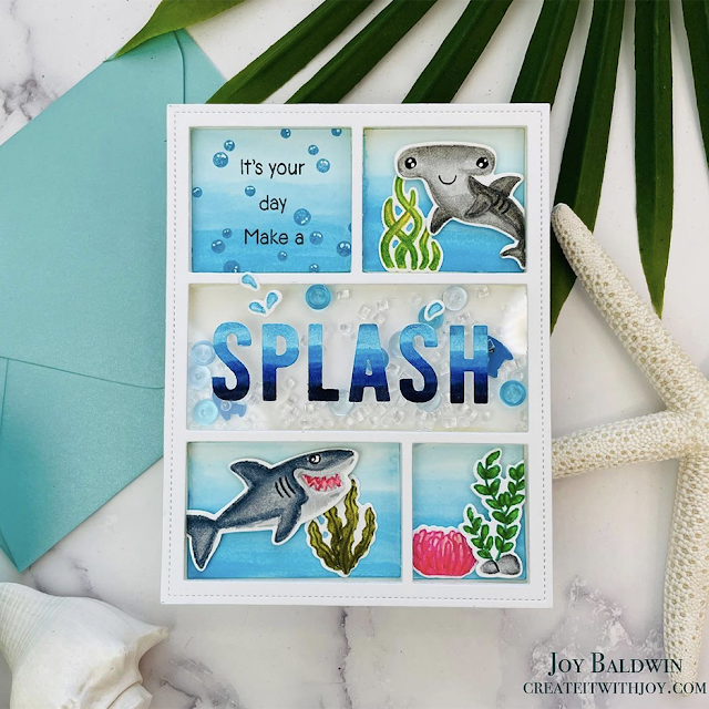 Sunny Studio Stamps: Best Fishes Comic Strip Everyday Dies Customer Card by Joy Baldwin