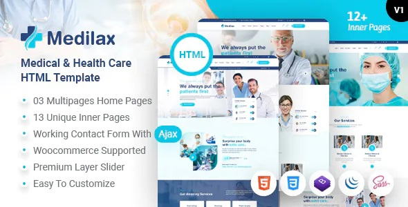 Best Medical Doctor & Health Care Pharmacy HTML Template