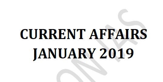 Vision IAS Current Affairs January 2019 pdf