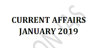 Vision IAS Current Affairs January 2019 - Download PDF