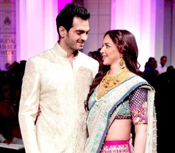 Esha Deol and Bharat Takhtani at Bridal Fashion Week 2012