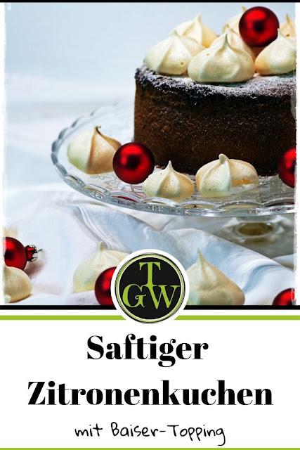 saftiger Zitronenkuchen mit Baiser-Topping #saftig #zitronenkuchen #baiser