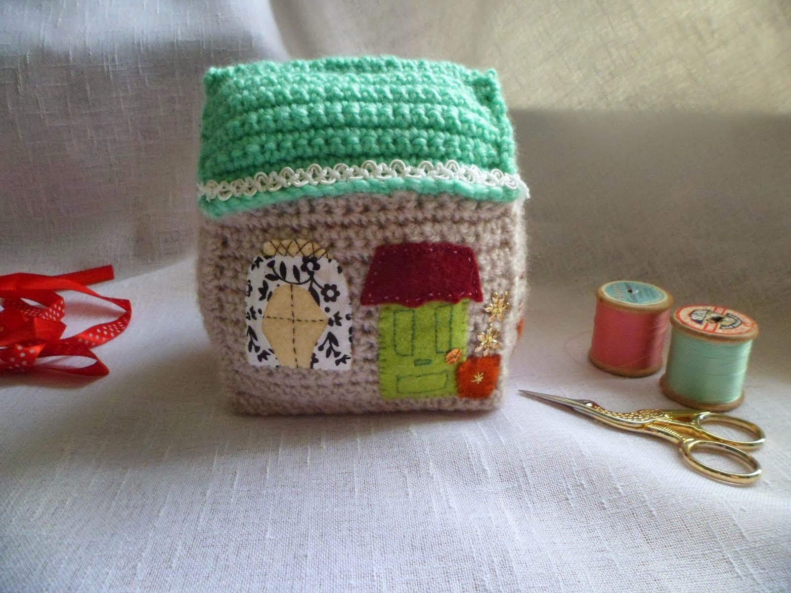 CROCHET COTTAGE ORNAMENT.