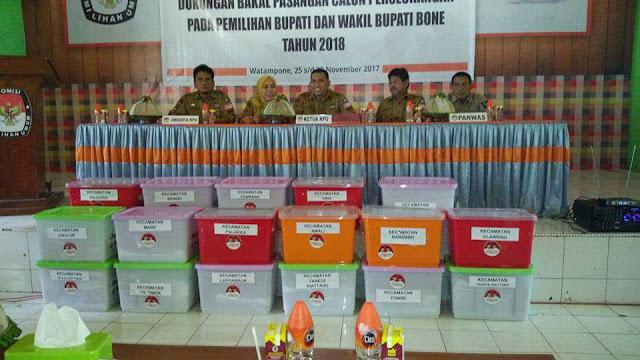 Tafaddal Terancam Lawan Kotak Kosong, Umar-Andi Mappamadeng Daftar Independent di KPU Bone
