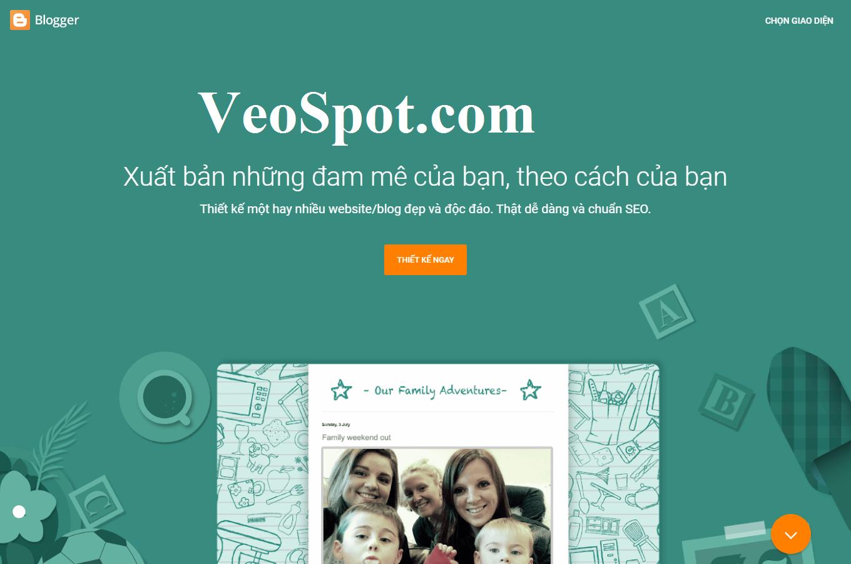Template blogspot giống mục trang chủ của Blogger