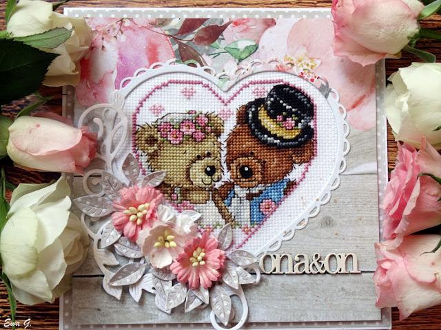 Imieniny miesiąca - kartka dla nowożeńców