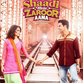 Shaadi Mein Zaroor Aana, Hindi Movie Shaadi Mein Zaroor Aana, Bollywood, Movie, Bollywood Movie 2018, Hindi Movie, Filem dan Drama Bulan Februari Hingga Mac 2018, Review By Miss Banu, Blog Miss Banu Story, Ulasan, My Opinion, Shaadi Mein Zaroor Aana Cast, Poster Filem Shaadi Mein Zaroor Aana, Pelakon Filem Bollywood Shaadi Mein Zaroor Aana, Rajkummar Rao, Kriti Kharbanda, Nayani Dixit, Govind Namdev, Alka Amin, Manoj Pahwa,