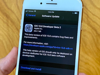 iOS 13.6 - 17G5045c  Beta 2 has been released by Apple