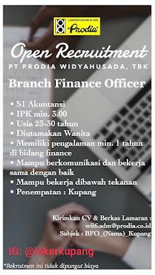 Lowongan Kerja PT Prodia Widyahusada Sebagai Branch Finance Officer