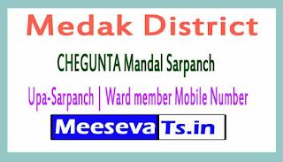 CHEGUNTA Mandal Sarpanch | Upa-Sarpanch | Ward member Mobile Numbers List Medak District in Telangana State