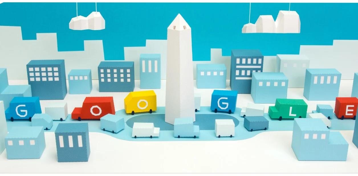 Google celebra el 85° aniversario de la inauguración del Obelisco porteño con un Doodle